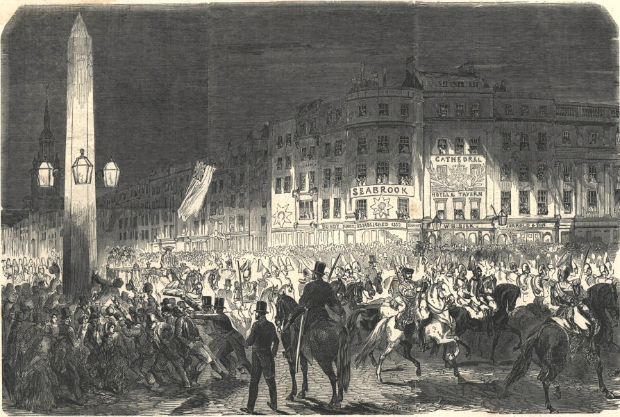 Associate Product Royal visit to the City - return of Her Majesty from the Guildhall. London 1851