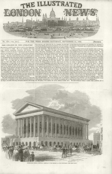 Associate Product Birmingham Musical Festival - Arrival of the company at the Town Hall 1852