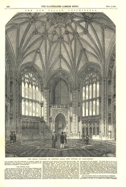 Associate Product The Great Octagon, or Central Hall, new Houses of Parliament. London 1852