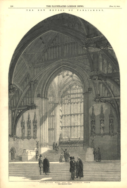 Associate Product The New Houses of Parliament: Westminster Hall & St. Stephen's Porch 1853