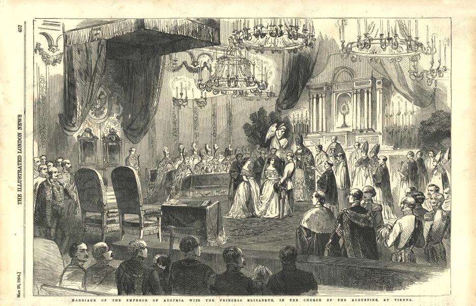Associate Product Emperor of Austria & Princess Elizabeth's wedding, Augustins church, Vienna 1854