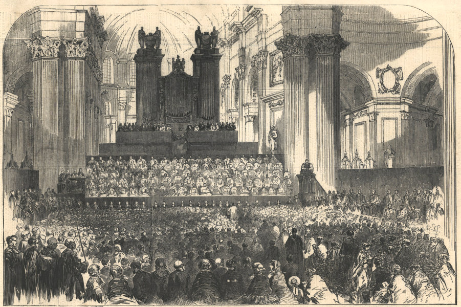 Associate Product Festival of the sons of the clergy, in St. Paul's Cathedral. London 1854