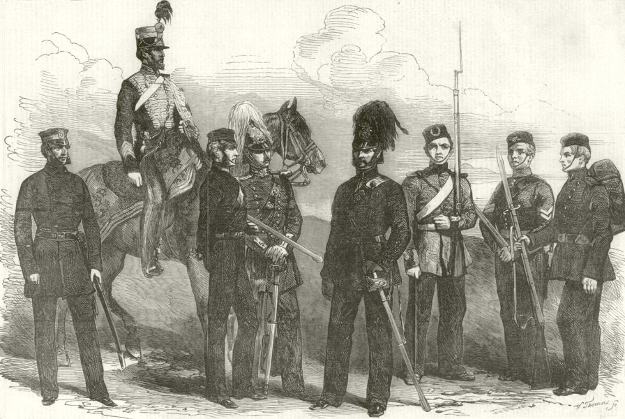 Associate Product British Army Militia Yeomanry Cavalry Middlesex Yorkshire Hussars Essex 1854