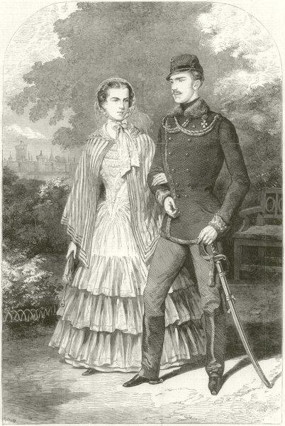 The Emperor & Empress of Austria. Palace of Laxenburg, Near Vienna 1855