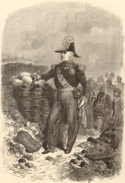 Associate Product Marshal Pelissier, Commander-in-Chief of The French Army. Crimean War 1855