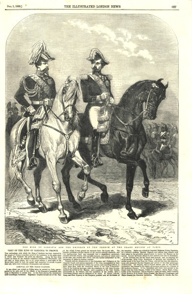 Associate Product The King of Sardinia & the French Emperor at the grand review at Paris 1855
