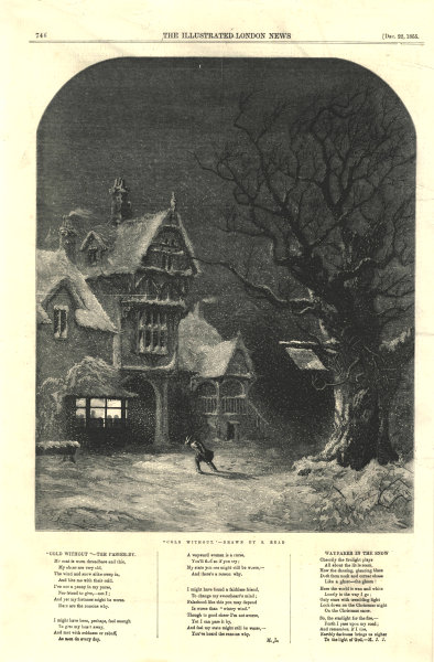 """Associate Product """"Cold without"""". Buildings. Fine arts 1855 antique ILN full page print"""