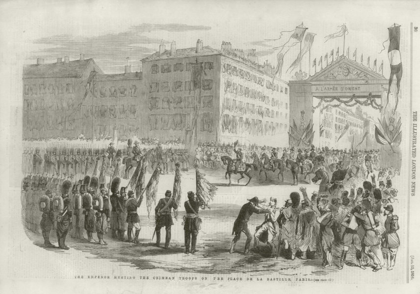 Associate Product The Emperor Meeting the Crimean Troops on the Place de la Bastille Paris 1856