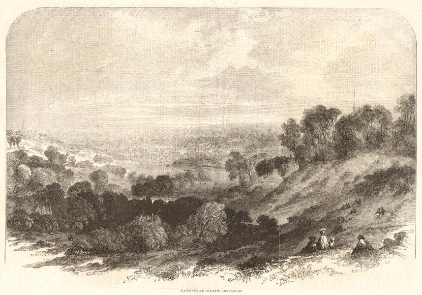 Associate Product Hampstead Heath. London 1856 antique ILN full page print