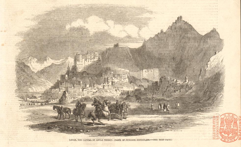 Associate Product Ladakh, the capital of Little Tibet: party of Punjab irregulars. India 1857