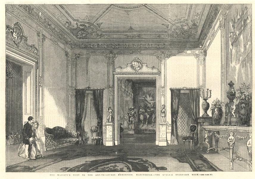 Associate Product Queen Victoria visit Art Treasures Exhibition, Manchester. Reception room 1857