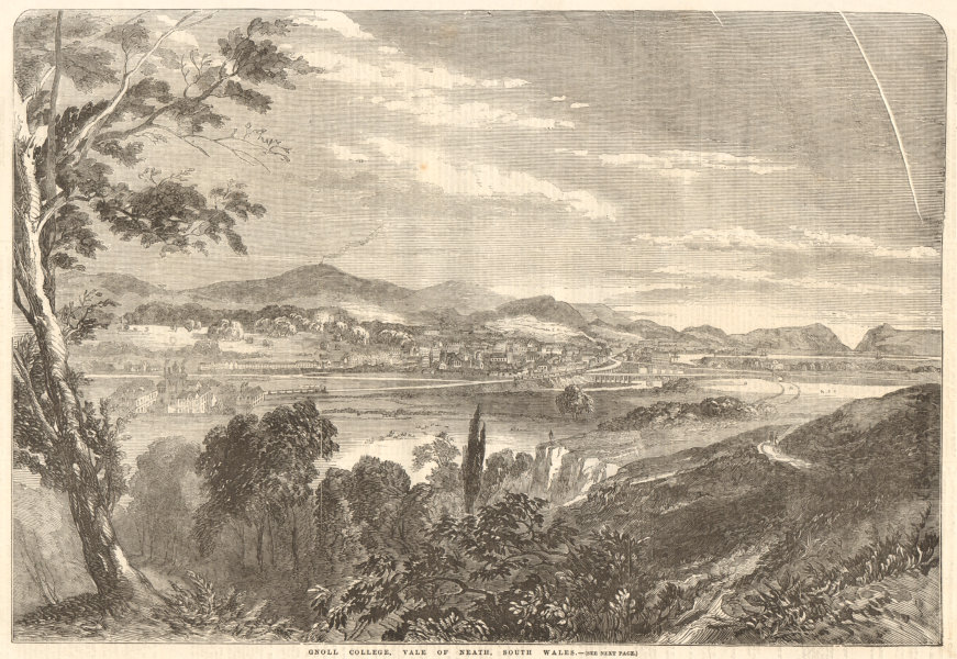 Gnoll College, Vale of Neath, South Wales. Gnoll Estate. Education 1857