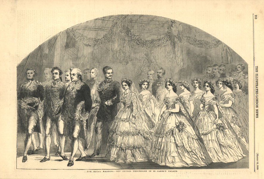 Associate Product The royal wedding - the bridal procession in St. James's Palace. London 1858