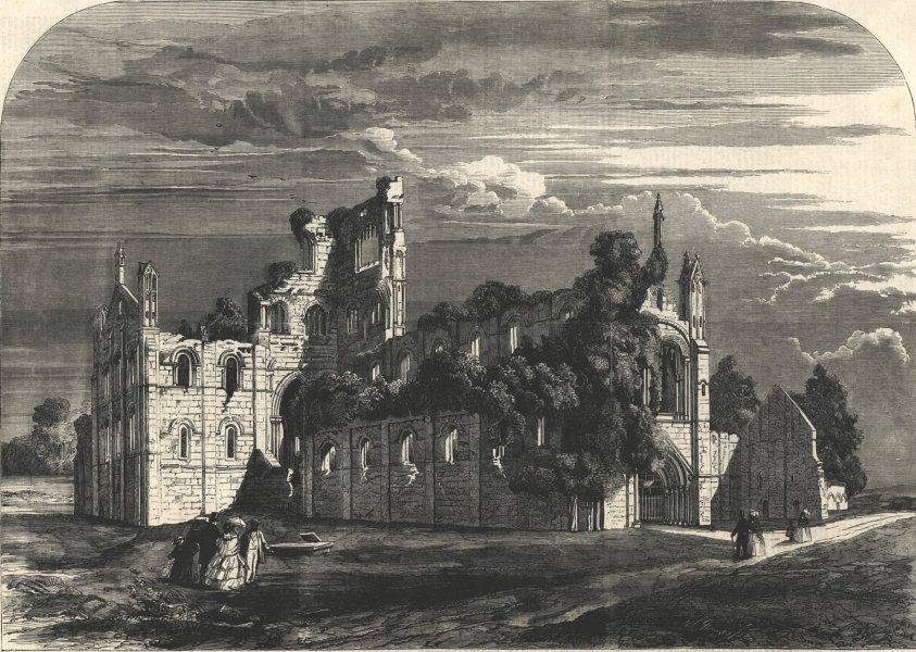 Associate Product Queen Victoria's visit to Leeds - Kirkstall Abbey. Yorkshire. Churches 1858