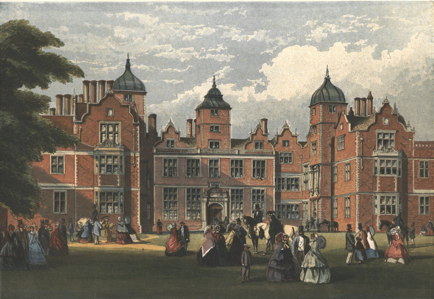 Associate Product Queen Victoria's visit to Warwickshire - Aston Hall, after R. P. Leitch 1858