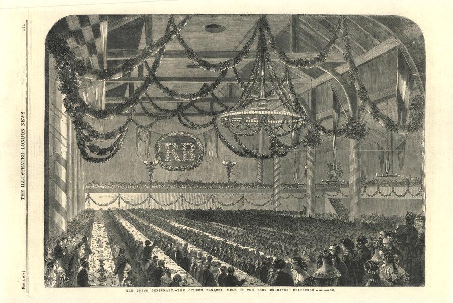 Associate Product The Burns Centenary - The citizen banquet in the Corn Exchange, Edinburgh 1859