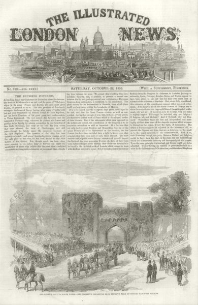 Associate Product Queen Victoria's Visit to North Wales: Departure from Penrhyn Park 1859
