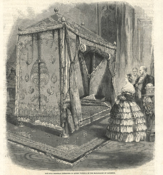 Associate Product Gold bedstead presented to Queen Victoria by the Maharajah of Kashmir 1859
