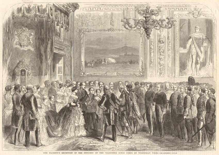 Associate Product Queen Victoria's reception of the officers of the Volunteer Rifle Corps 1860