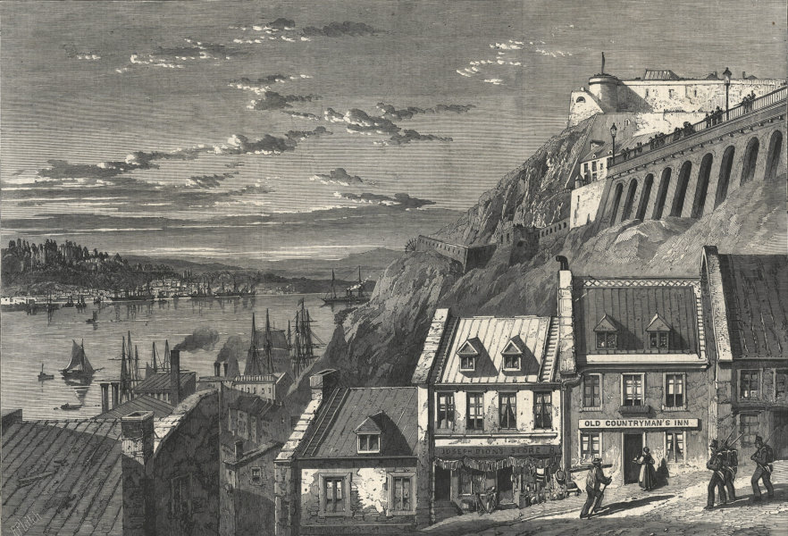 Associate Product The citadel of Quebec, from Prescott Gate 1860 antique ILN full page print