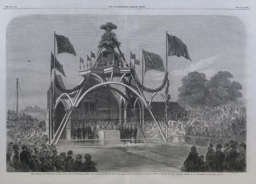 Associate Product Prince of Wales (Edward VII) laying Ottawa Parliament building keystone 1860