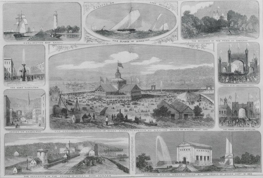 Associate Product Hamilton Canada Burlington Bay canal Kingston Gore James St Prince of Wales 1860