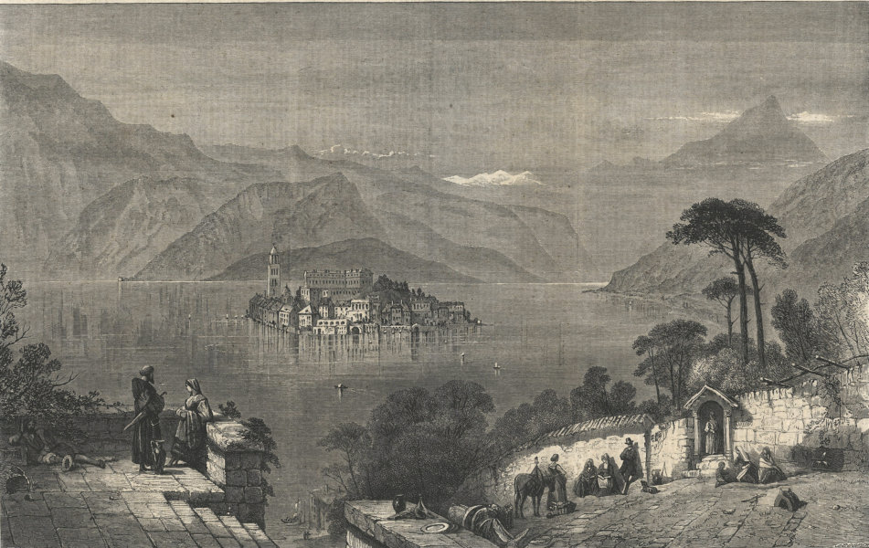 Associate Product Isola San Giulio, Lago d'Orta. Italy. Lakes 1861 antique ILN full page print