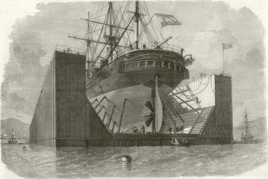 Associate Product Floating pontoon by Messrs. Rennie & Son for the Government of Spain 1862