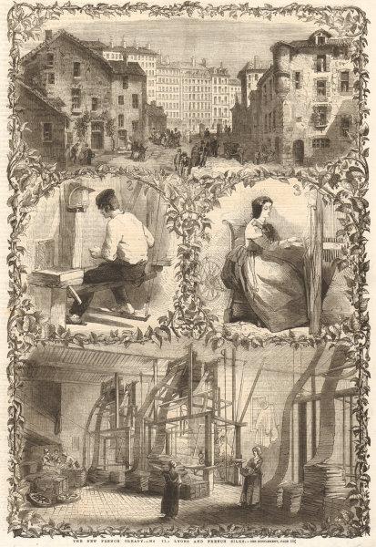 Associate Product The new French treaty - No 11: Lyons & French silks. Rhône. Textiles 1862