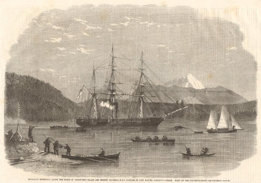 Associate Product Vancouver Island British Columbia. HMS Plumper Port Harvey Johnstone Strait 1862