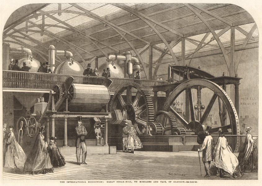 Associate Product The International Exhibition: great sugar-mill, by Mirlees & Tait, Glasgow 1862