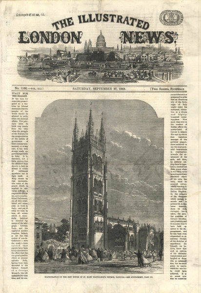 Associate Product Inauguration of St. Mary Magdalene's Church Tower, Taunton. Somerset 1862