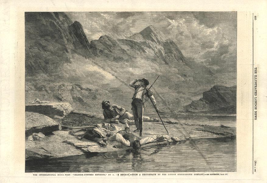 "Associate Product The International Exhibition: ""Chamois-hunters reposing"". London. Hunting 1862"