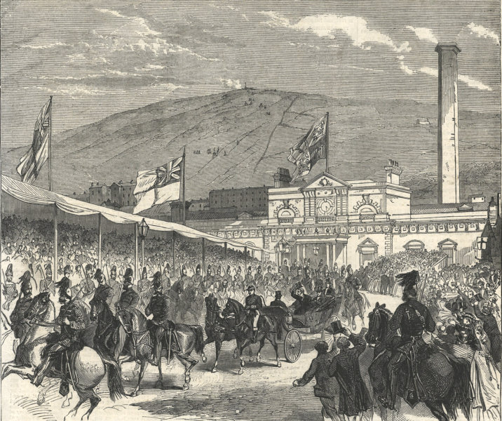 Associate Product Prince of Wales (later Edward VII) visit to Halifax: The arrival. Yorkshire 1863