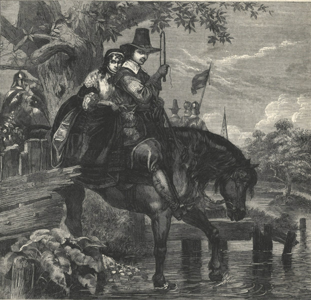 Associate Product Jane Lane assisting Charles II, to escape after the Battle of Worcester 1863