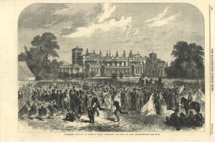 Associate Product Volunteer festival at Grimston Park, Yorkshire. Lord Londesborough's seat 1864