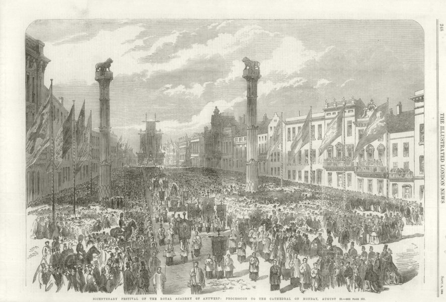 Associate Product Royal Academy of Antwerp Bicentenary: Procession to the Cathedral 1864