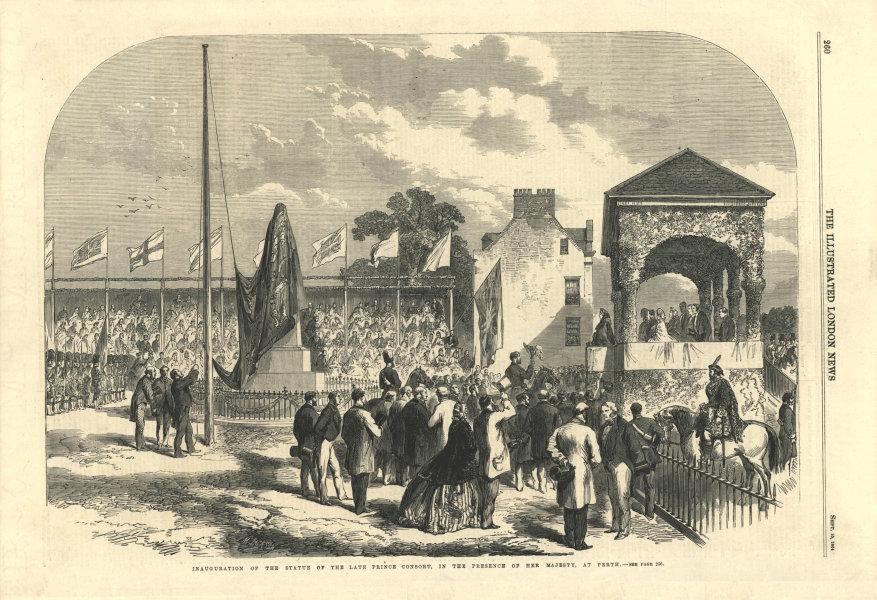 Associate Product Prince Albert statue inauguration, Perth, Scotland. Queen Victoria present 1864