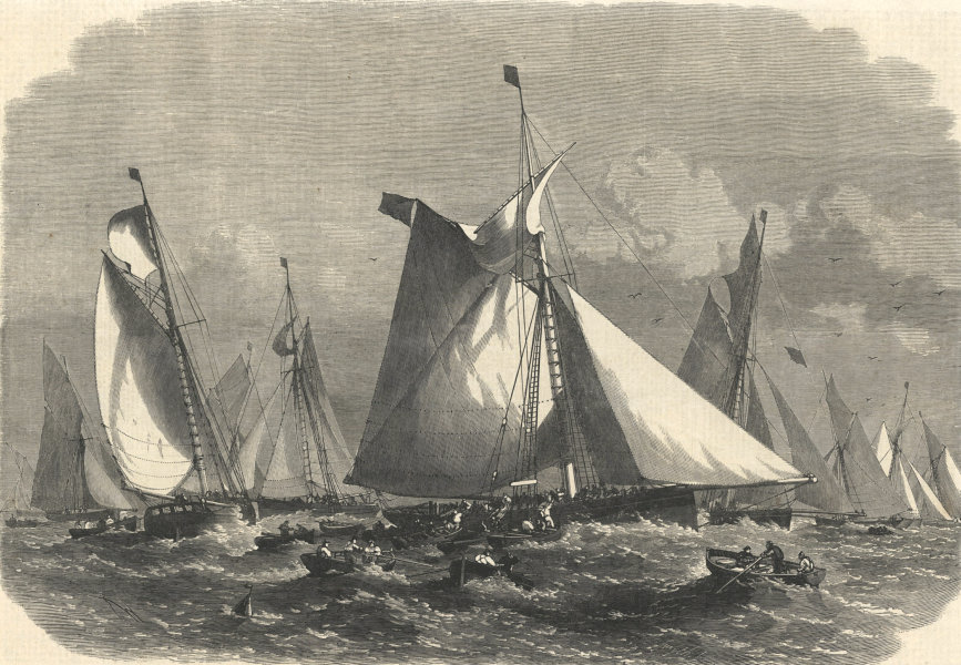 Associate Product A Barking carrier collecting fish from the trawler fleet on the Dogger Bank 1864