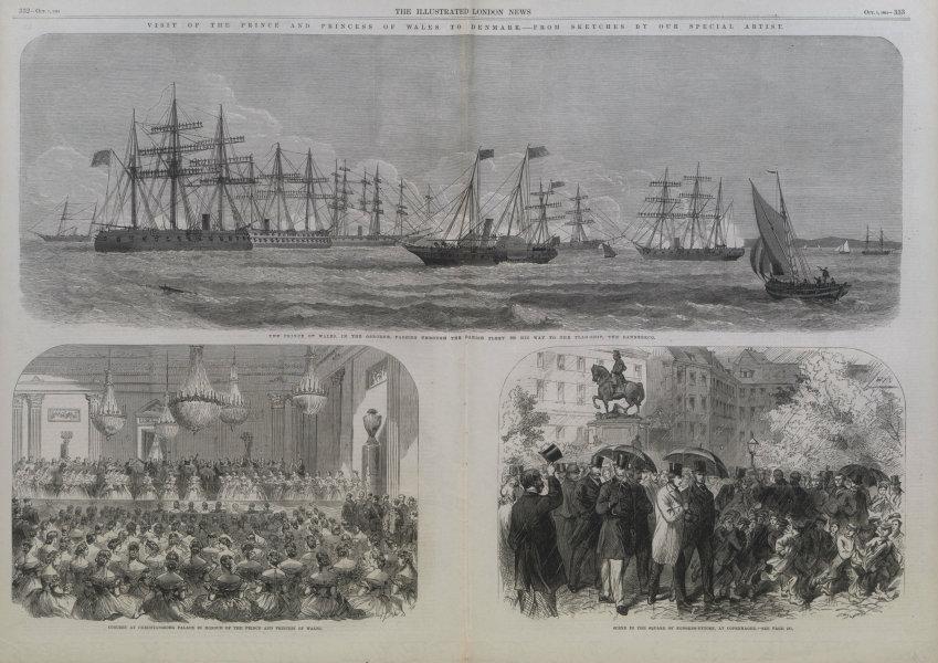Associate Product Royal visit to Denmark. Osborne Christiansborg Kongens-Nytorv Copenhagen 1864