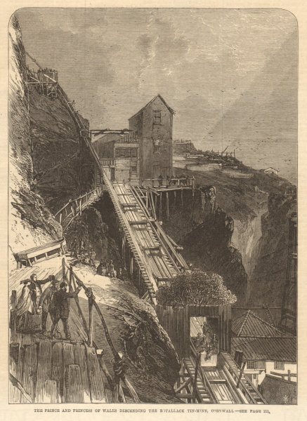 Associate Product Prince of Wales (Edward VII) at the Botallack tin mine, Cornwall. Mining 1865