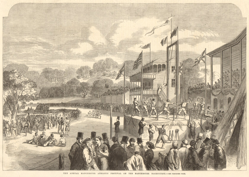 Associate Product The annual Manchester Athletic Festival on the Manchester Racecourse 1865