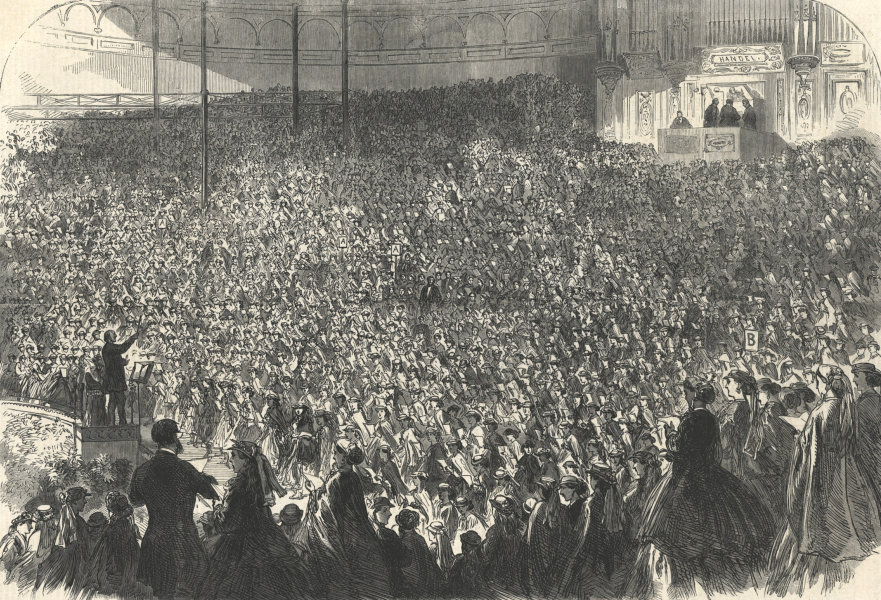 Associate Product Choral meeting of metropolitan schools at the Crystal Palace. London 1866