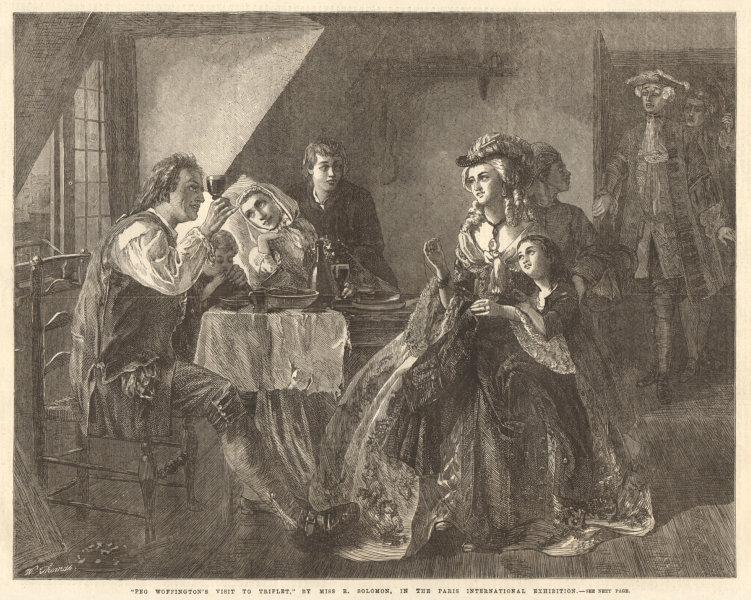 "Associate Product ""Peg Woffington's visit to Triplet"" by Miss R. Solomon. Family. Fine arts 1867"