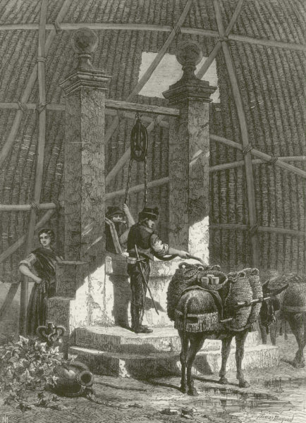 """"""" Water carriers at the well in the Alhambra, Spain """", by TR Macquaid 1868"""
