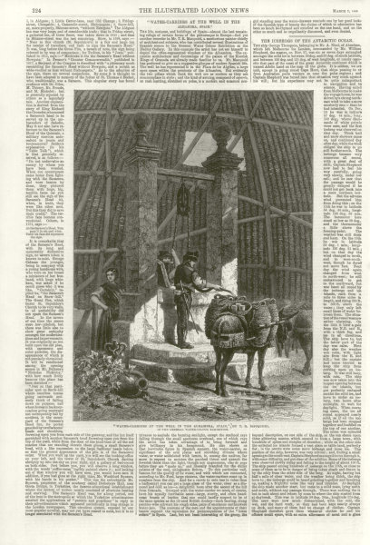 """Associate Product """" Water carriers at the well in the Alhambra, Spain """", by TR Macquaid 1868"""