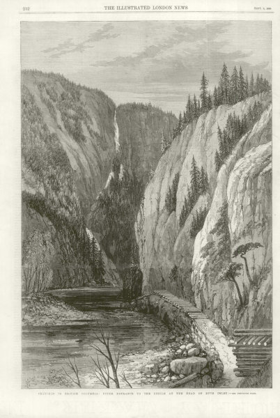 Associate Product British Columbia: Upper entrance, defile at Bute Inlet head. Canada 1868