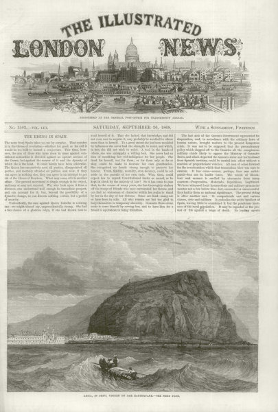 Associate Product Arica, in Peru, visited by the Earthquake. Now in Chile 1868 antique ILN page