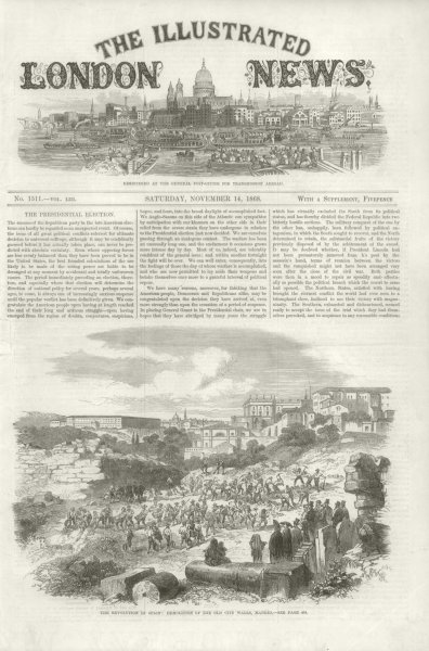 Associate Product Glorious Revolution: Demolition of the old city walls, Madrid. Spain 1868