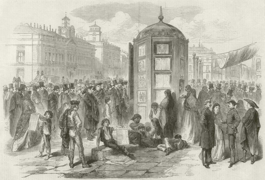 Associate Product Glorious Revolution Spain: Provisional Government. Puerta del Sol Madrid 1868
